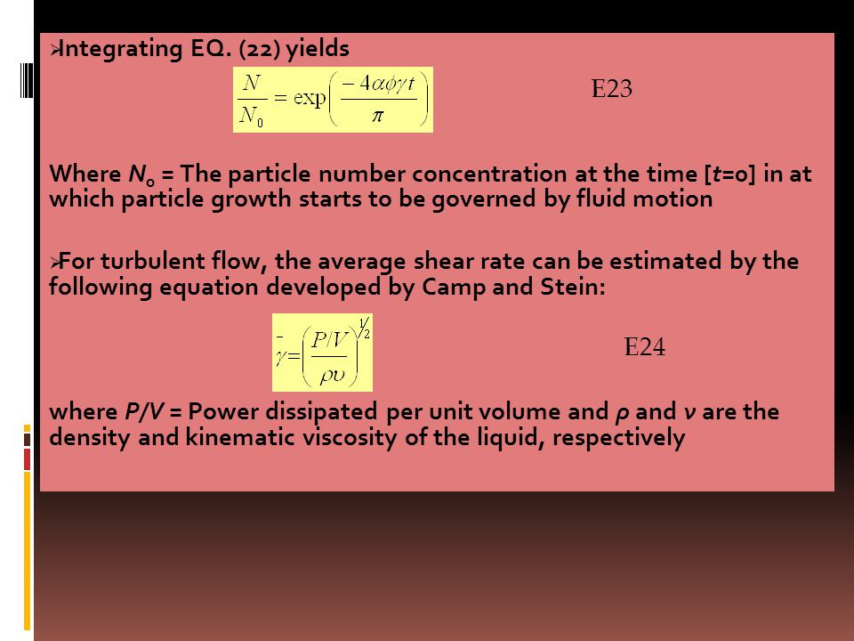 Integrating EQ. (22) yields
