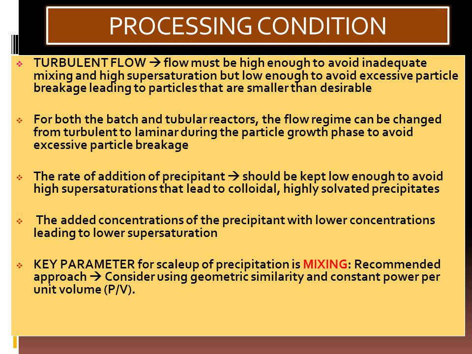 PROCESSING CONDITION