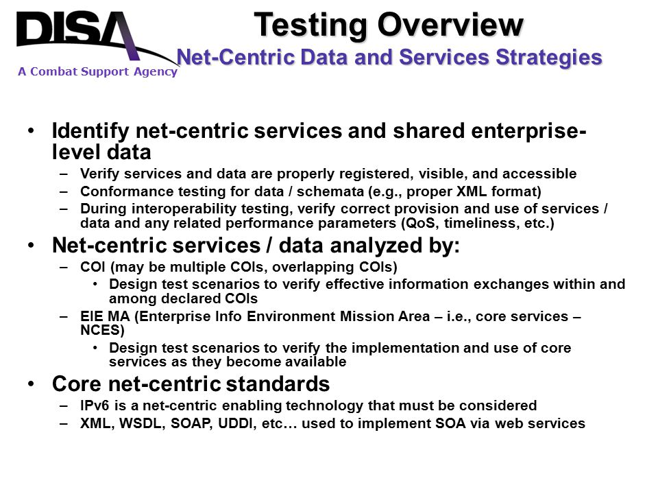 Net-Centric Data and Services Strategies