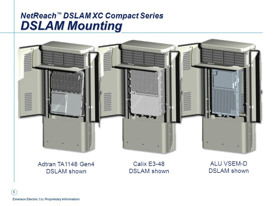 NetReach™ DSLAM XC Compact Series DSLAM Mounting