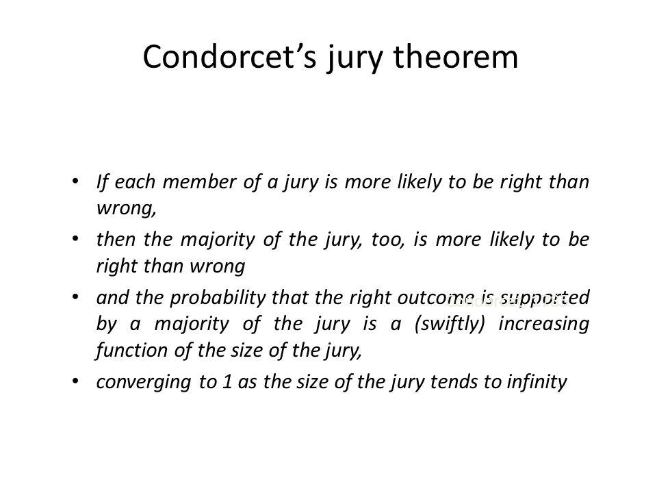 Condorcet's jury theorem