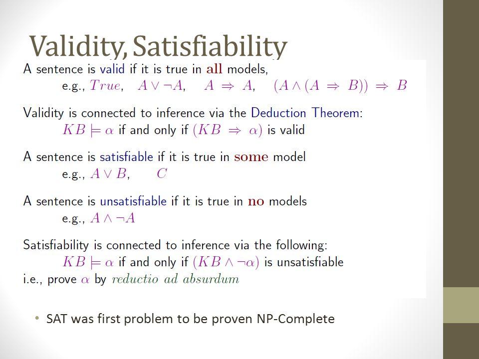 Validity, Satisfiability