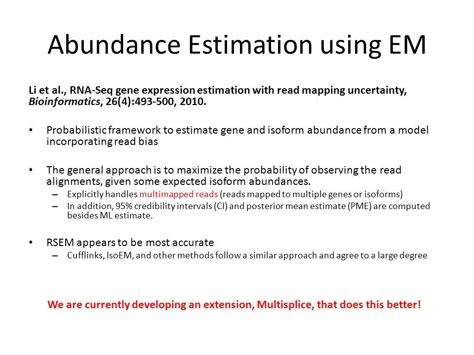 Abundance Estimation using EM