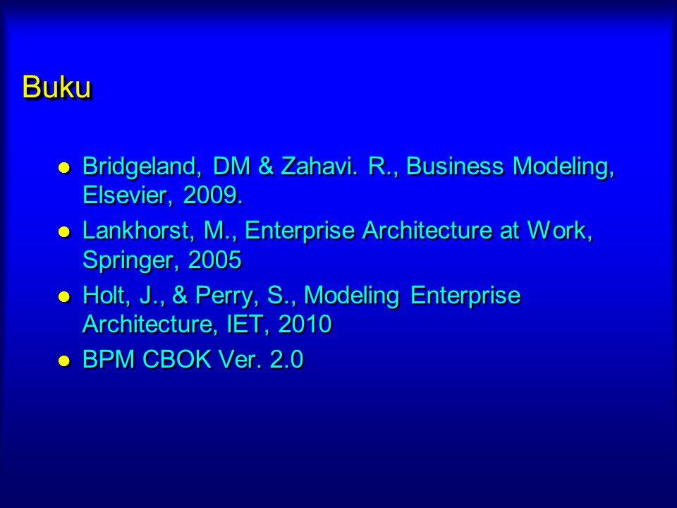 Buku Bridgeland, DM & Zahavi. R., Business Modeling, Elsevier, 2009.