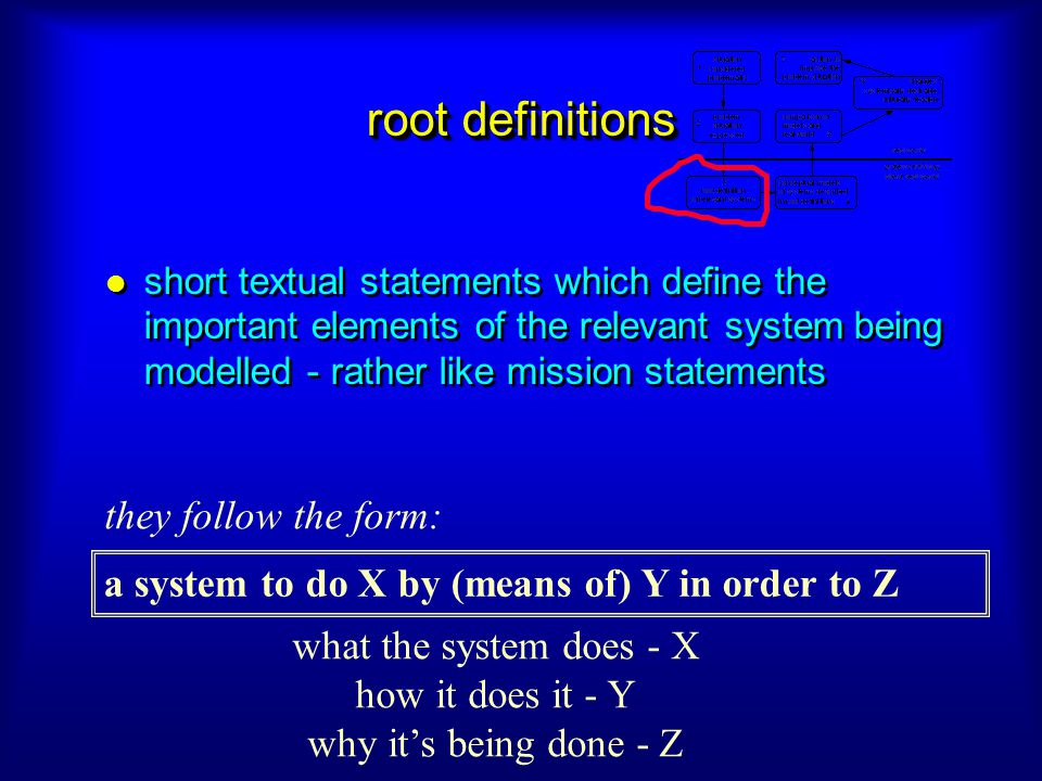 root definitions they follow the form: