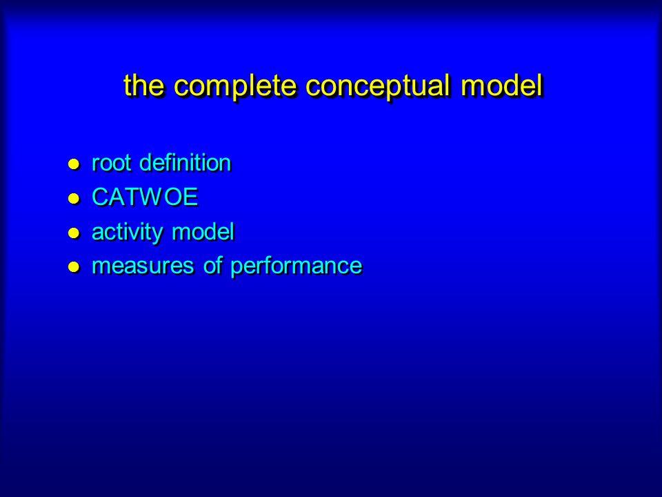 the complete conceptual model