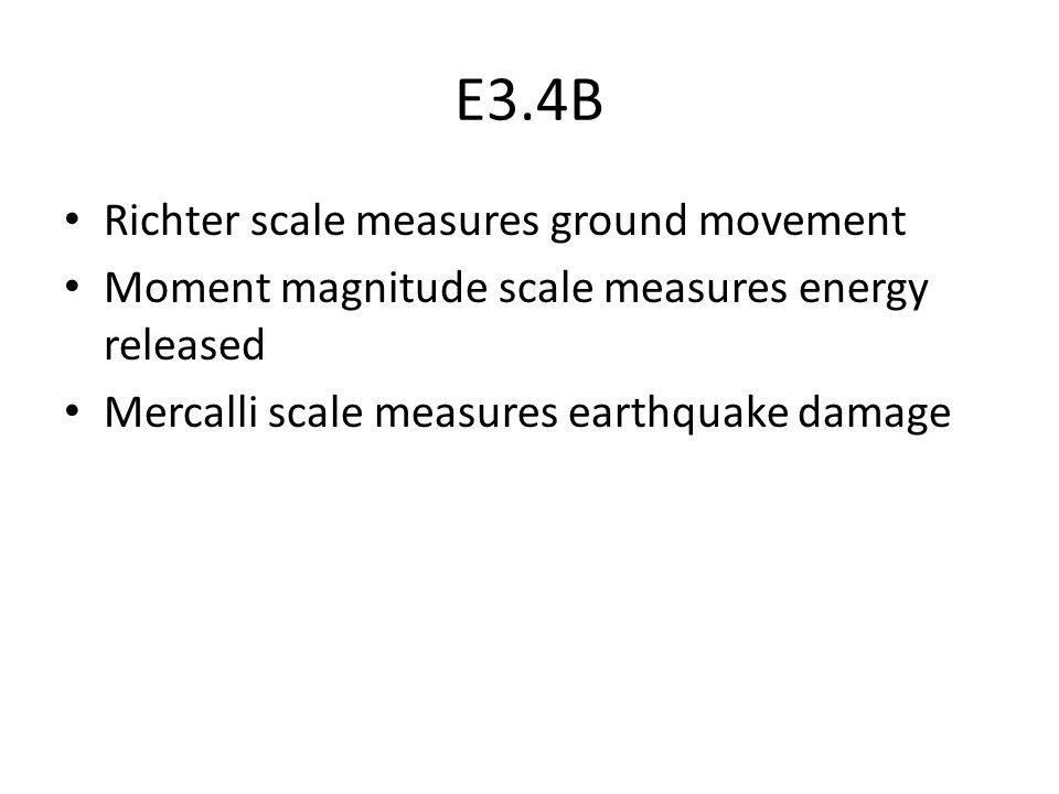 E3.4B Richter scale measures ground movement