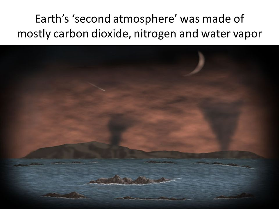 Earth's 'second atmosphere' was made of mostly carbon dioxide, nitrogen and water vapor