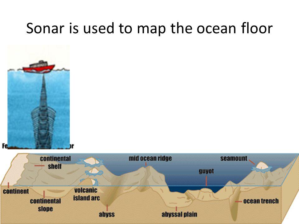 Sonar is used to map the ocean floor