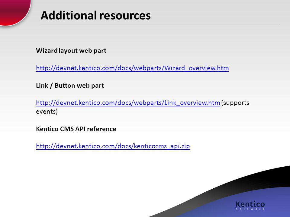 Additional resources Wizard layout web part