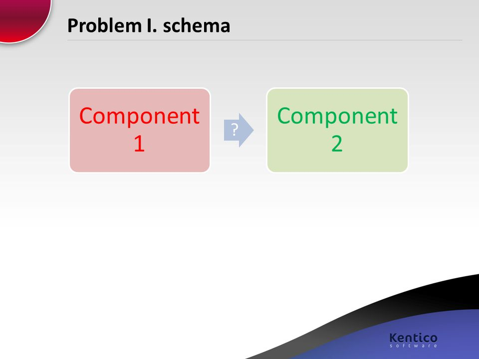 Problem I. schema Component 1 Component 2