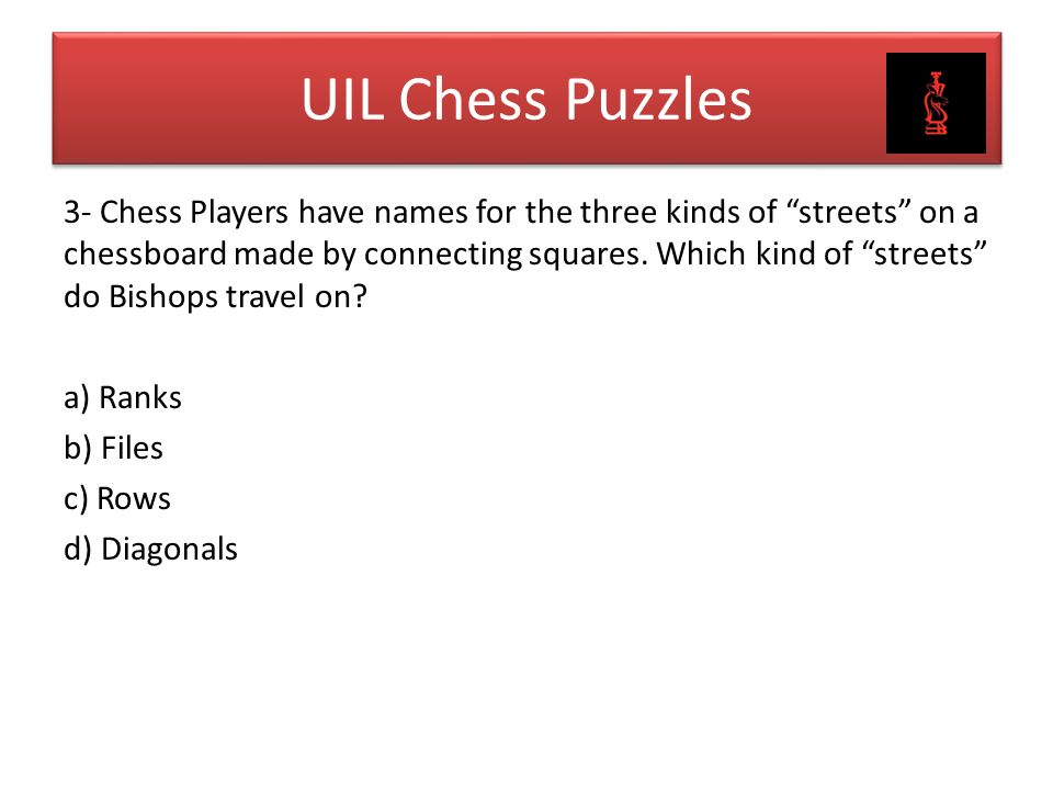 UIL Chess Puzzles