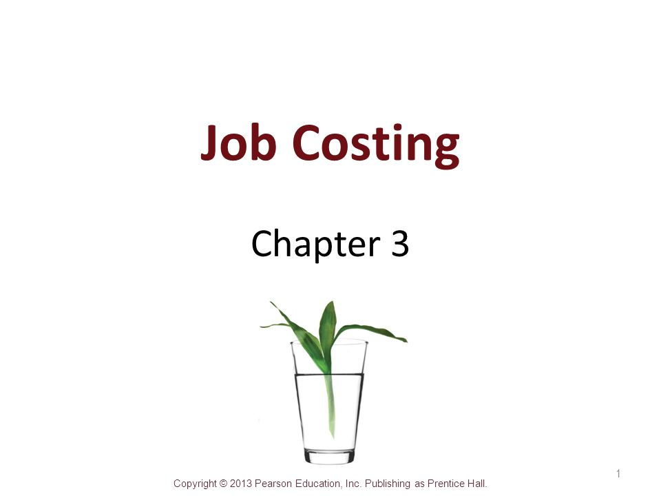 Job Costing Chapter 3