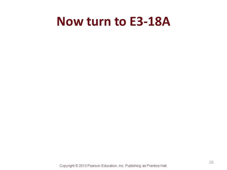 Now turn to E3-18A