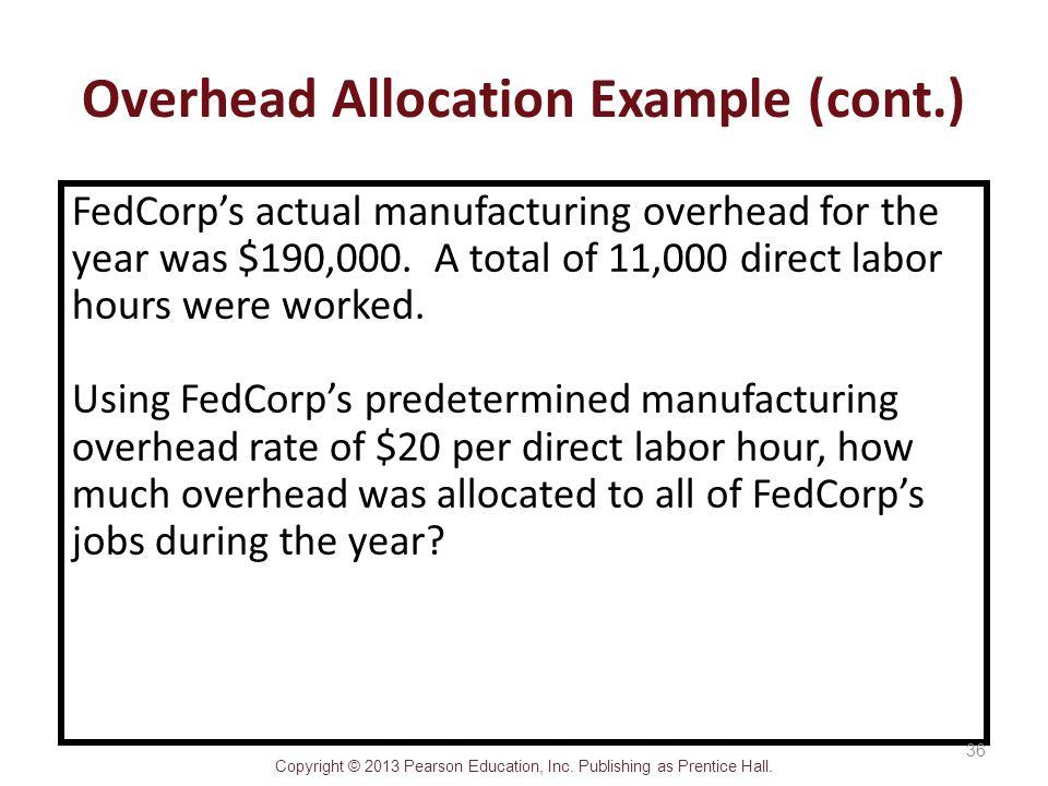 Overhead Allocation Example (cont.)