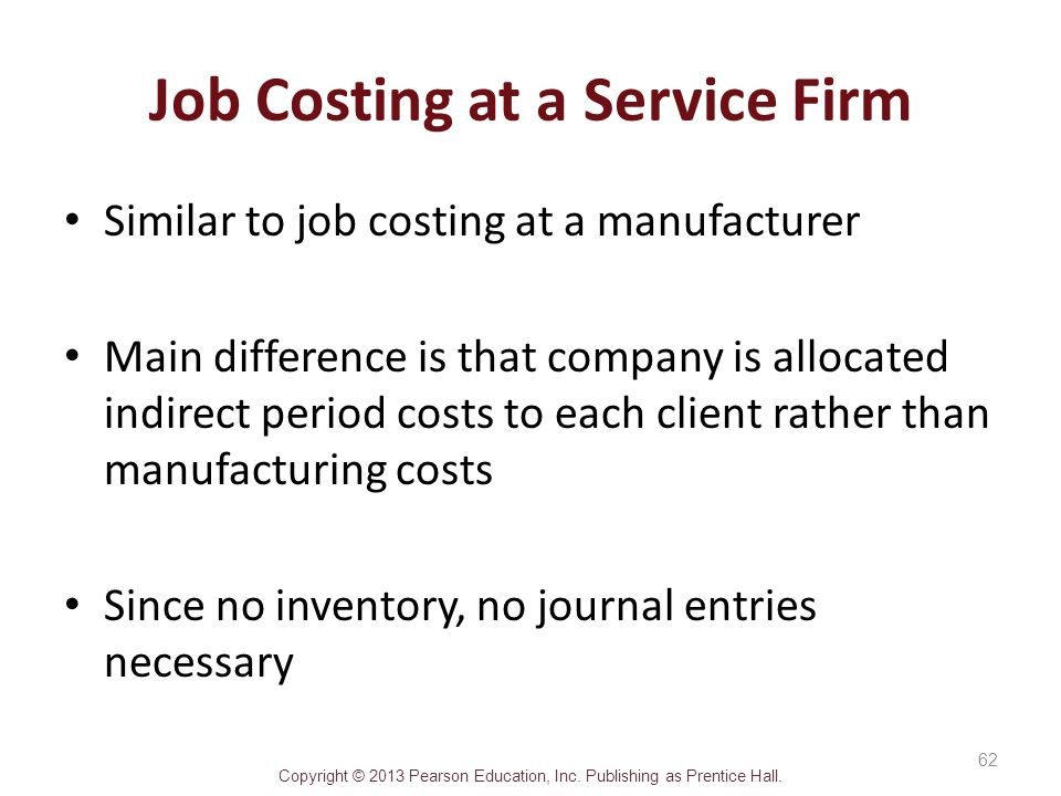 Job Costing at a Service Firm