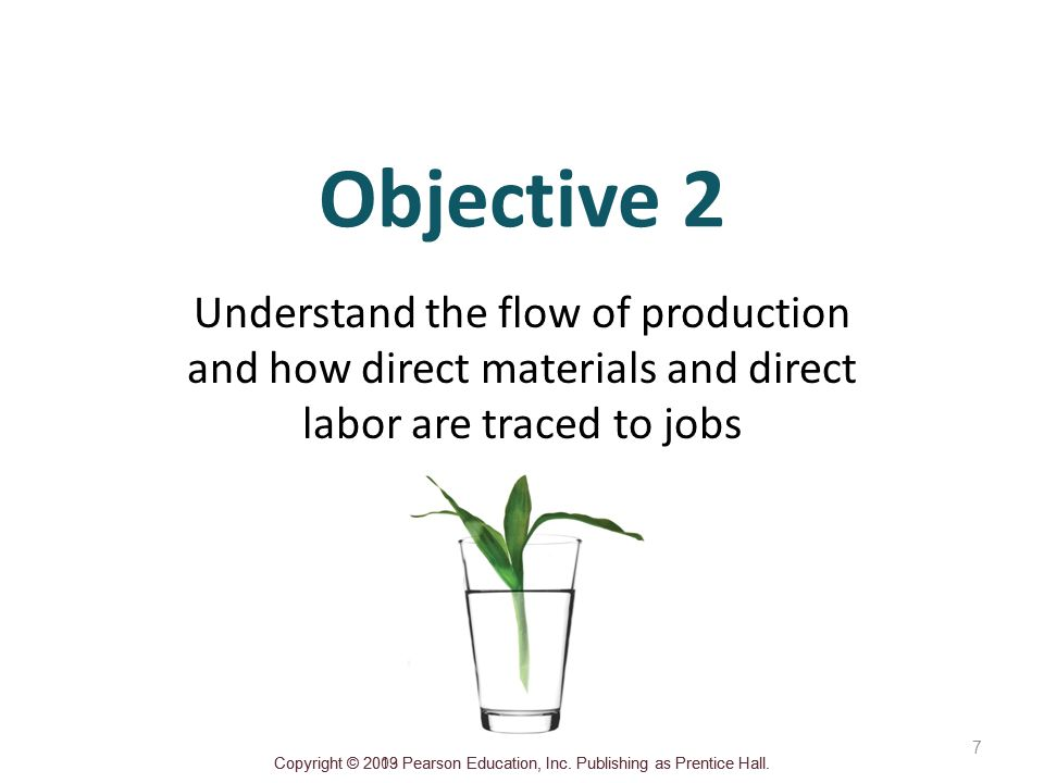 Objective 2 Understand the flow of production and how direct materials and direct labor are traced to jobs.