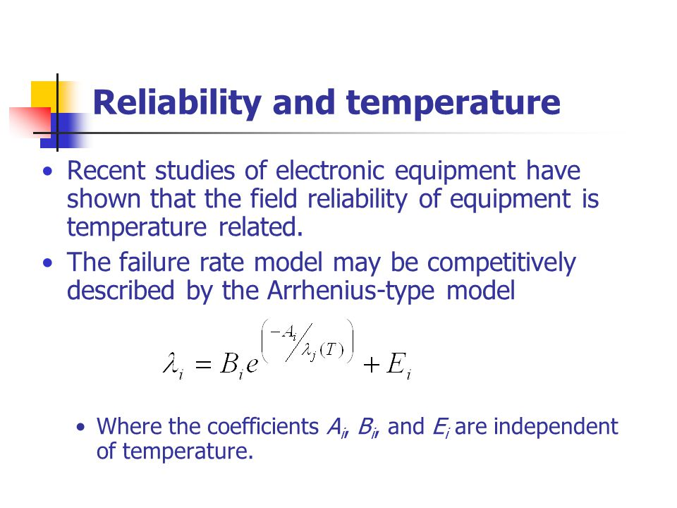 Reliability and temperature