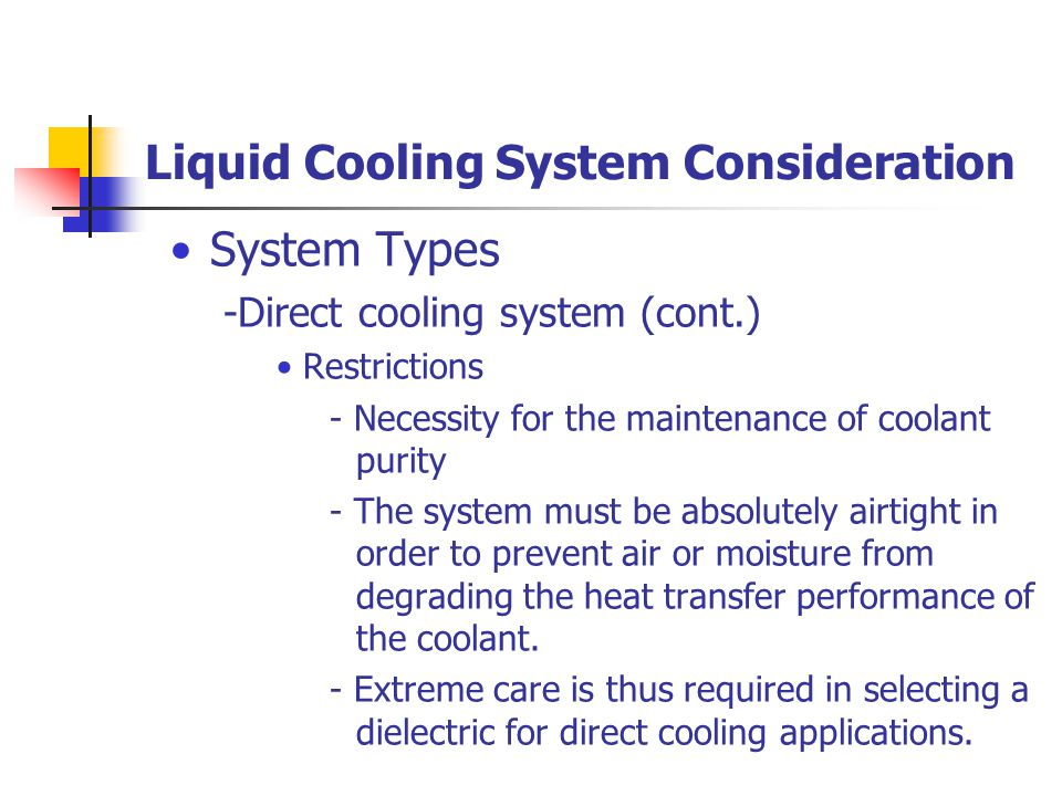Liquid Cooling System Consideration