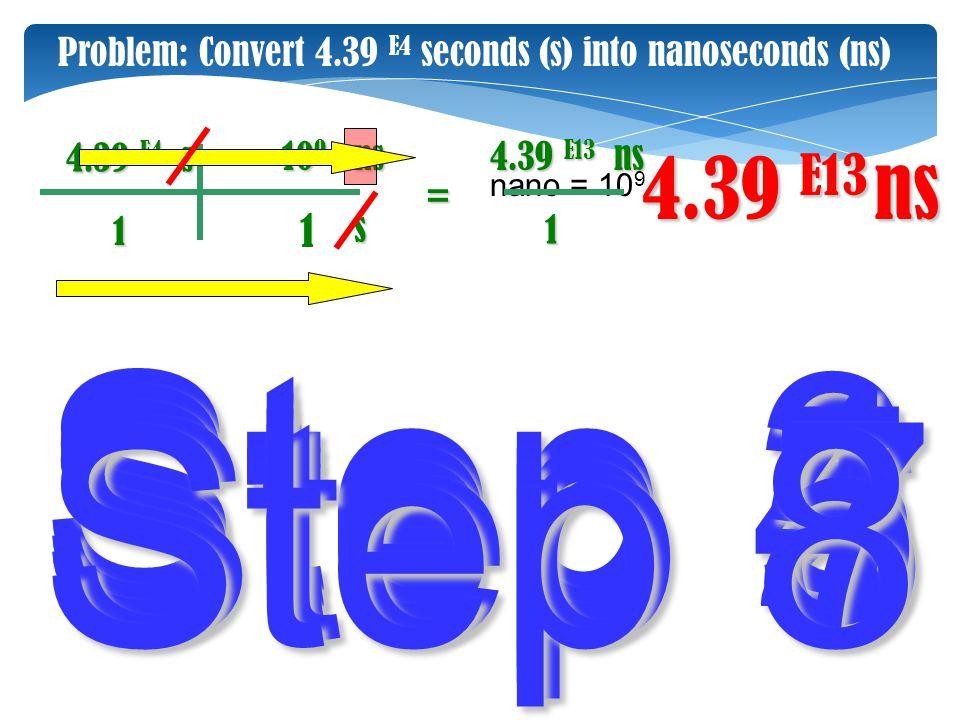 Step 3 Step 2 Step 4 Step 1 Step 5 Step 6 Step 7 Step 8 4.39 E13 ns 1