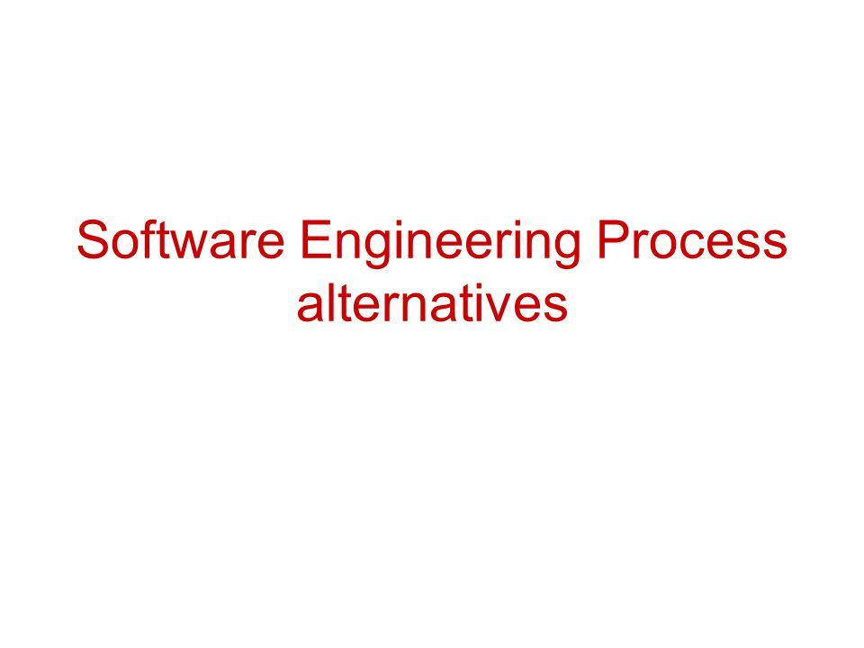 Software Engineering Process alternatives
