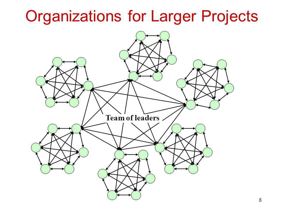 Organizations for Larger Projects