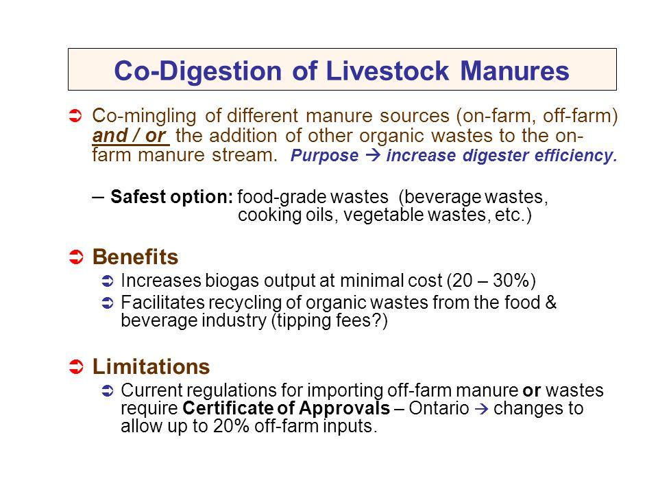 Co-Digestion of Livestock Manures