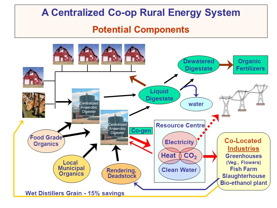 A Centralized Co-op Rural Energy System