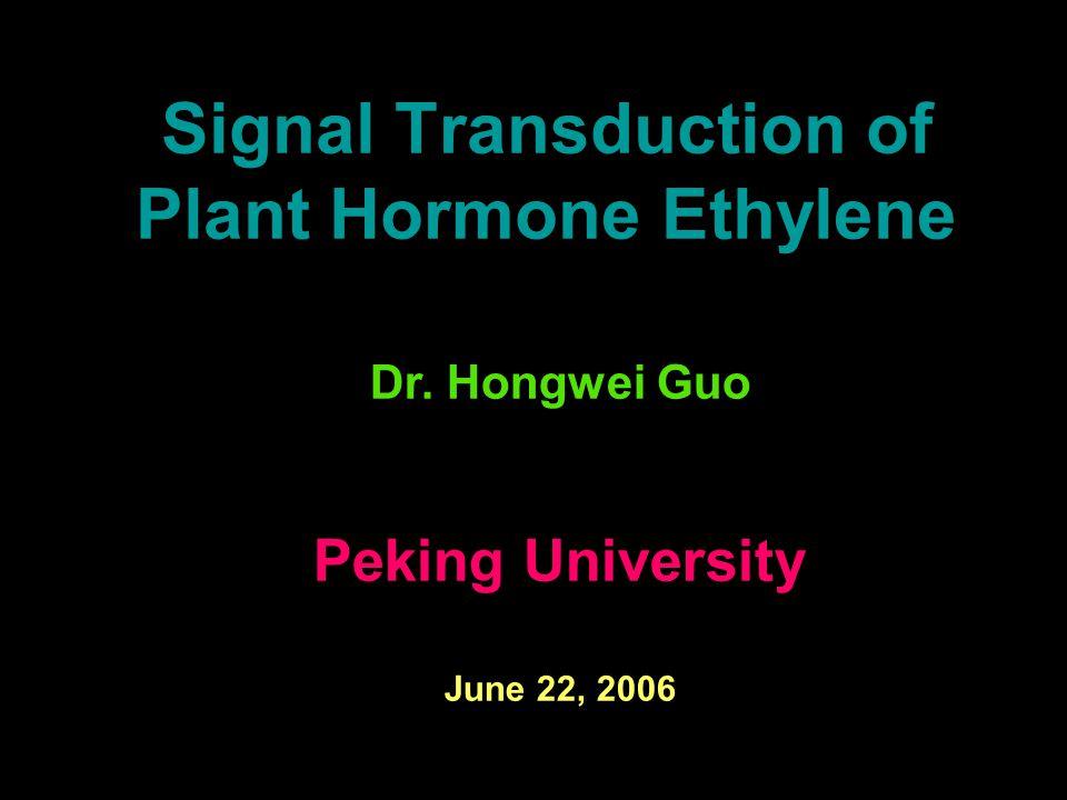 Signal Transduction of Plant Hormone Ethylene