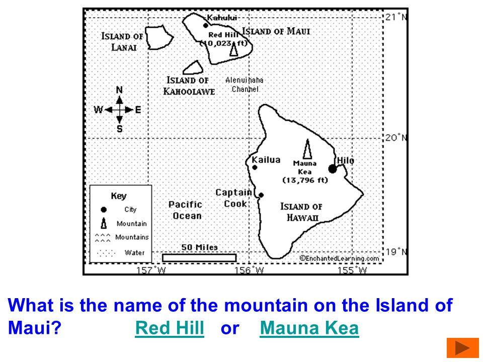 What is the name of the mountain on the Island of Maui
