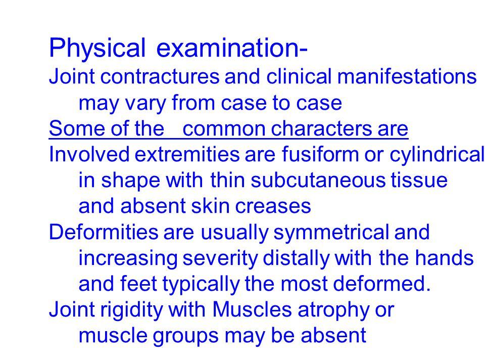 Physical examination-