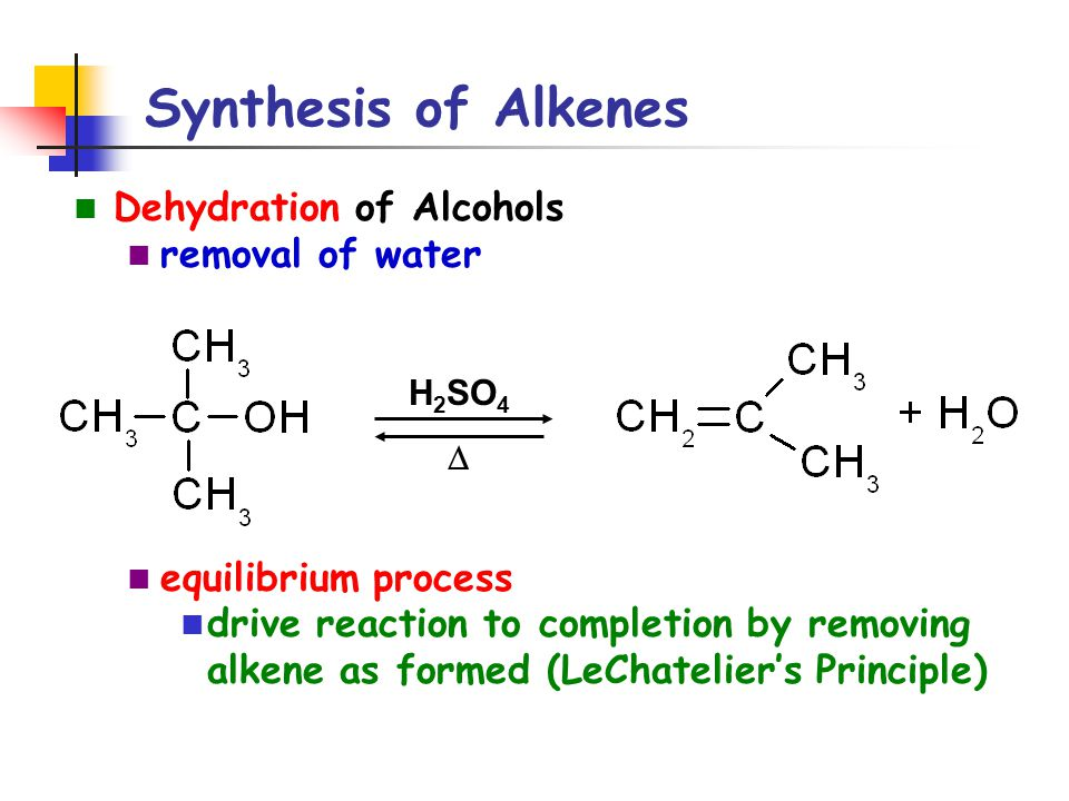 synthesis of alkenes Alkenes and alkynes i: properties and synthesis elimination reactions of alkyl halides properties and synthesis 109.