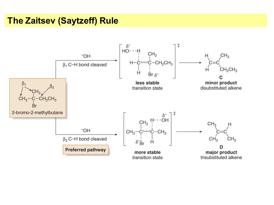 The Zaitsev (Saytzeff) Rule