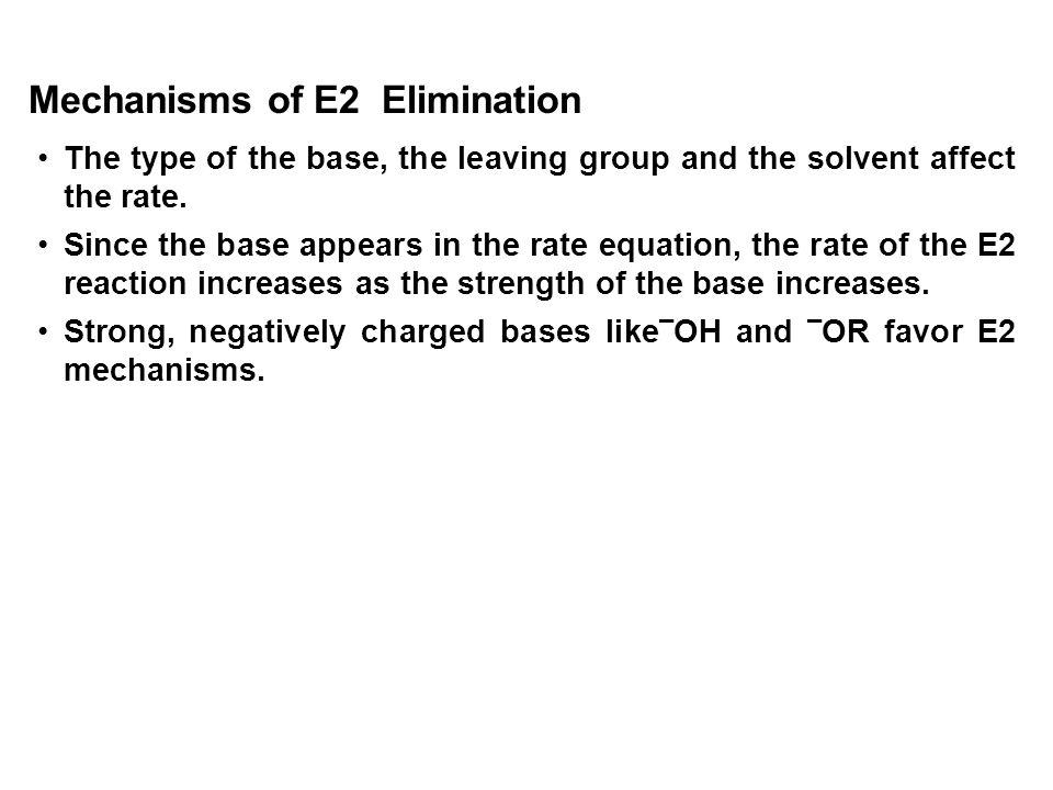 Mechanisms of E2 Elimination
