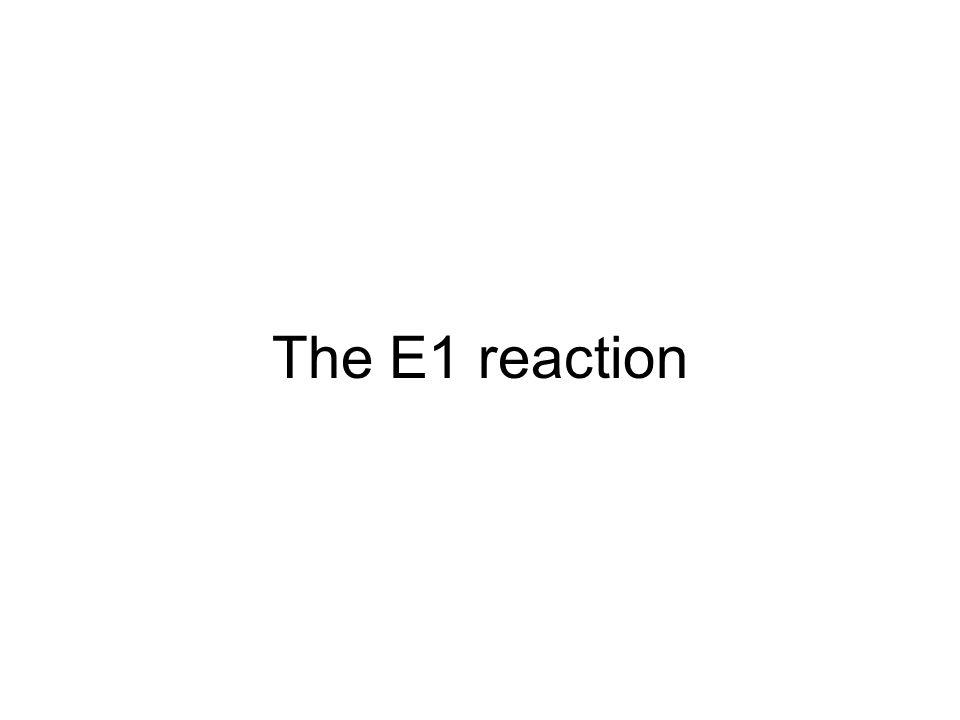 The E1 reaction