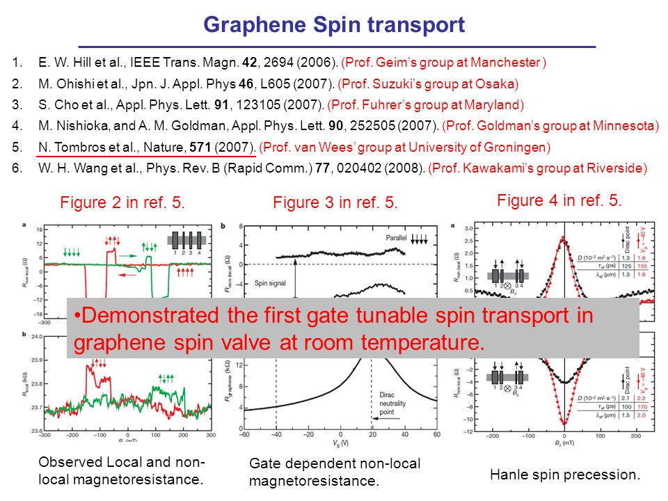 Graphene Spin transport