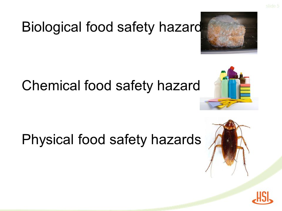 Biological food safety hazards