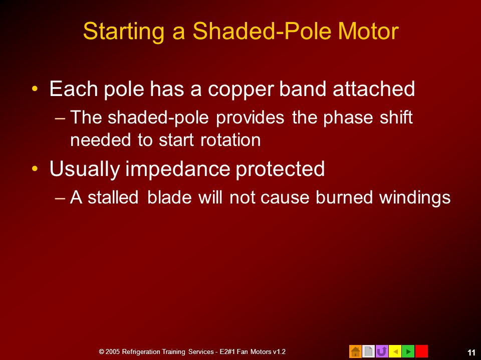 Starting a Shaded-Pole Motor