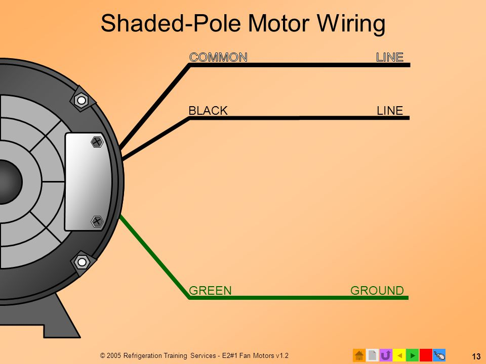 Shaded-Pole Motor Wiring