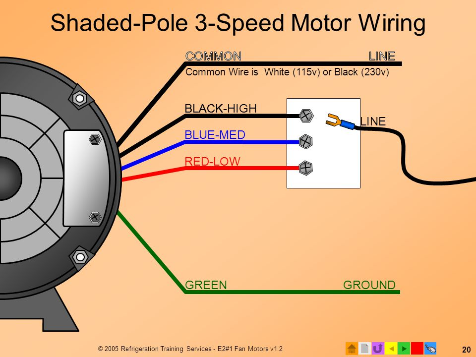 Shaded-Pole 3-Speed Motor Wiring