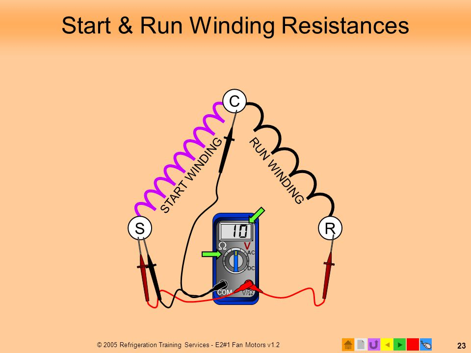 Start & Run Winding Resistances