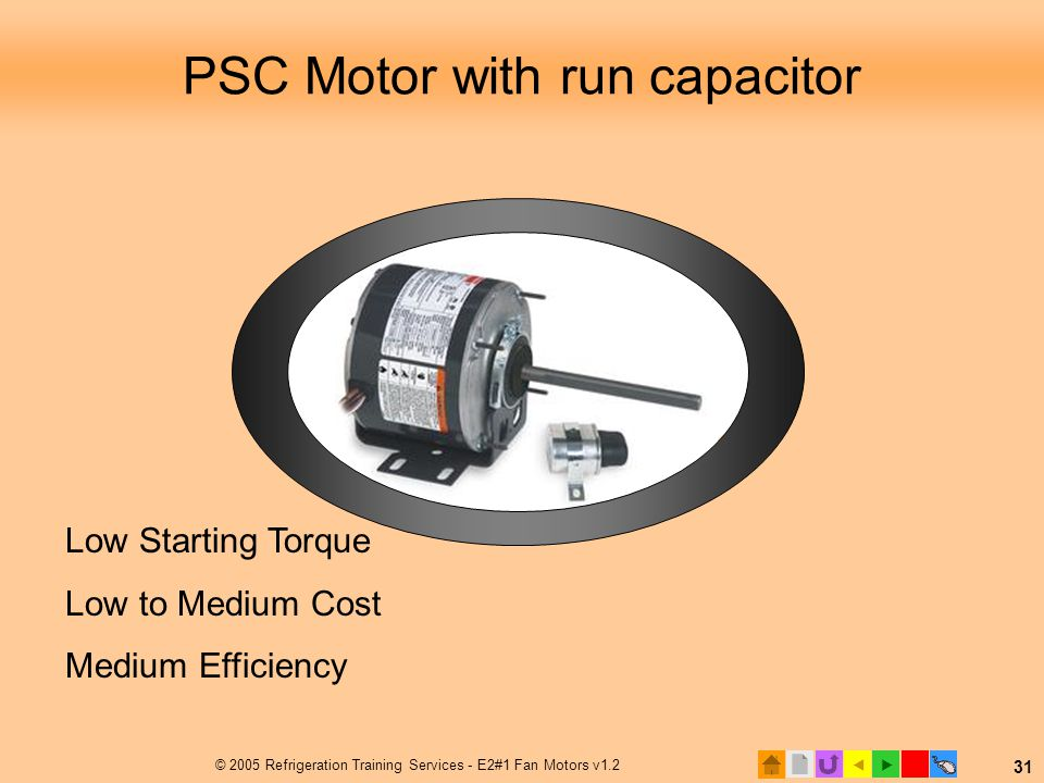PSC Motor with run capacitor