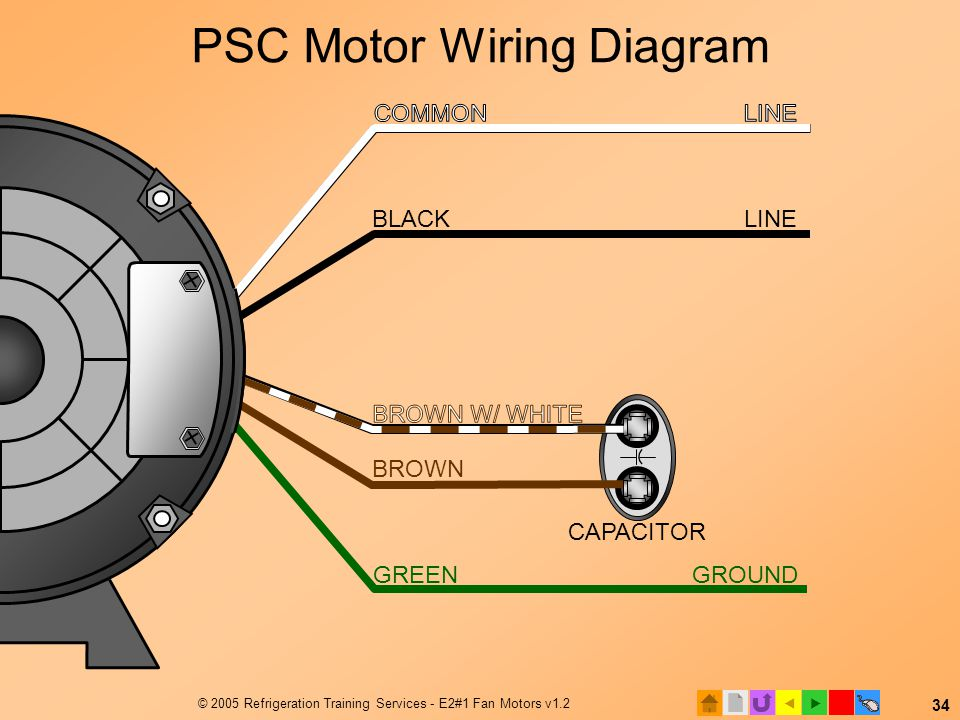 PSC+Motor+Wiring+Diagram e2 motors and motor starting (modified) ppt video online download split capacitor motor wiring diagram at crackthecode.co