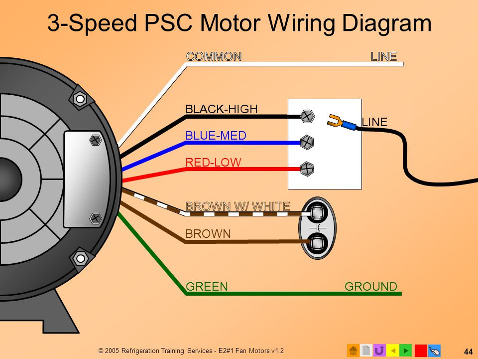 3-Speed PSC Motor Wiring Diagram