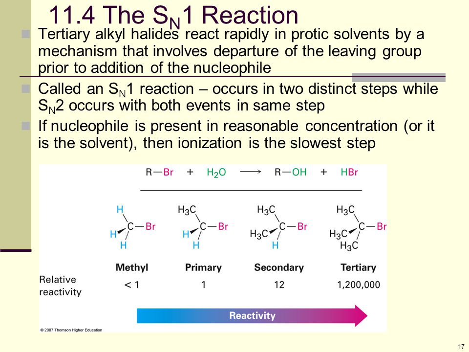 11.4 The SN1 Reaction
