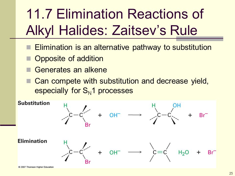 11.7 Elimination Reactions of Alkyl Halides: Zaitsev's Rule