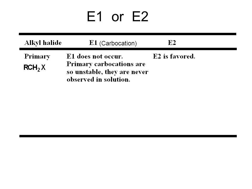 E1 or E2 (Carbocation) 28