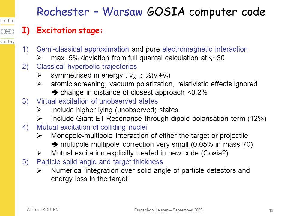 Rochester – Warsaw GOSIA computer code