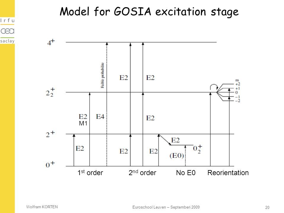 Model for GOSIA excitation stage