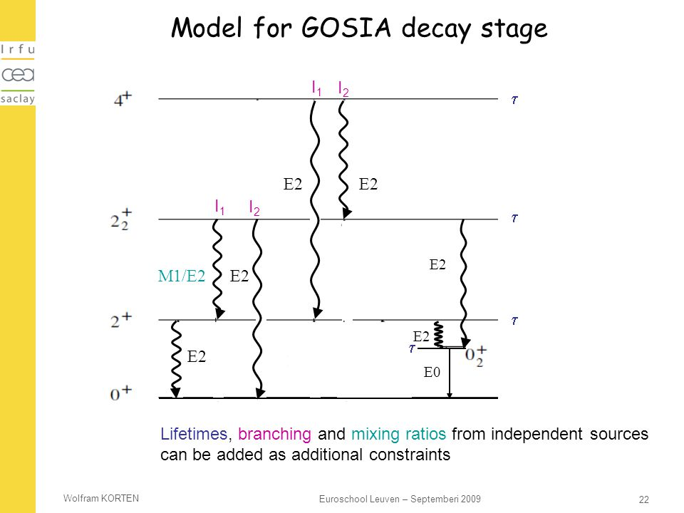 Model for GOSIA decay stage